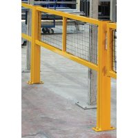 Steel Protection Barriers with Gate Mesh Infill