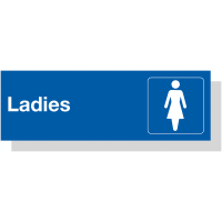 Ladies' Toilets Laser Engraved Acrylic Sign with Symbol