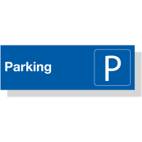 Laser Engraved Acrylic Parking Symbol Sign