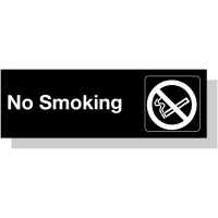 Laser Engraved Acrylic Sign – No Smoking (Visual)