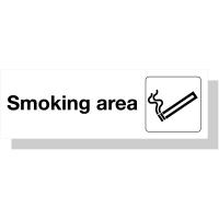 Acrylic Sign To Designate A Smoking Area