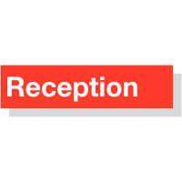 Laser-Engraved Acrylic 'Reception' Sign in Choice of Colours
