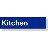Stylish, Durable Laser Engraved Acrylic 'Kitchen' Sign