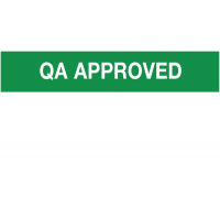 'QA Approved' Self-adhesive Paper Labels