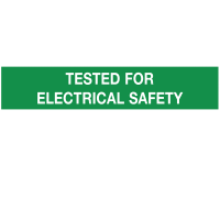Paper 'Tested for Electrical Safety' Economy Labels