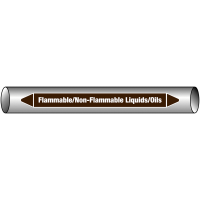 Chemical Resistant European Linerless Pipemarkers For Lube Oil
