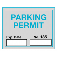 Self-Cling Car Windscreen Parking Permit Labels