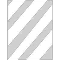 Diagonal Line Stencil for Parking Lines and Floor Demarcation