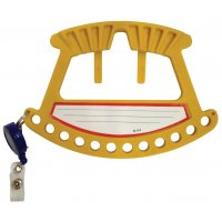 Yellow PVC Padlock-Carrying Belt Caddy