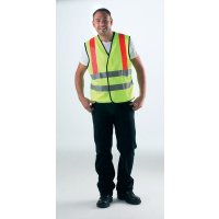 Polyester High-Visibility Waistcoat With Amber Reflective Braces