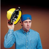 Head-cooling bandana - suitable for use under hard hats