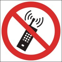 No Mobile Phones' Symbol Sign for Indoor or Outdoor Use