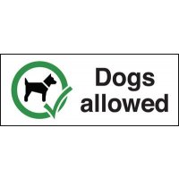 Self-adhesive vinyl dogs allowed sign