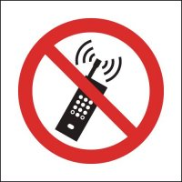 Self-Adhesive Vinyl And Rigid Plastic 'No Mobile Phones' Sign