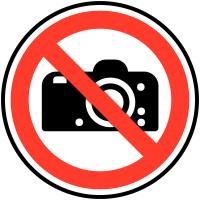 """Circular """"No Photography"""" Signs"""