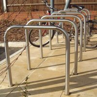 Sheffield-style galvanised steel bicycle rack