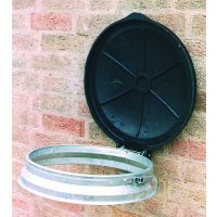 Frameless wall-mounted circular sackholders