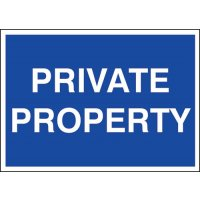 Plastic Private Property Sign