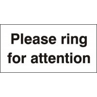 Ring for attention reception sign