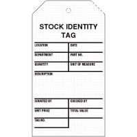 Stock Identity Status Tags for Warehouses