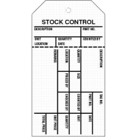 PVC Stock Control Warehouse Tags in Choice of Colours