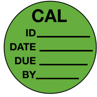 Self-laminating write-on calibration labels