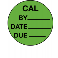 Small, self-adhesive calibration labels
