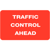 Portable Class One 'Traffic Control Ahead' Reflective Roll-up Sign