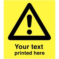 Custom Printed A-Board Sign With Hazard Symbol