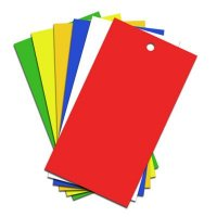 Heavy Duty Rectangular Polypropylene Colour Coded Tags
