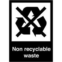 Non-Recyclable Waste' Adhesive Signs