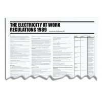 Clear Electricity At Work Workplace Regulation Wallchart