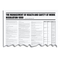 Management of Health and Safety at Work PVC Wallchart