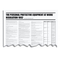 Personal Protective Equipment At Work Regulation PVC Wall Chart