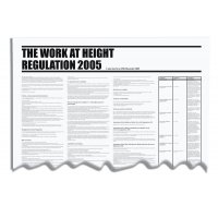 "PVC ""The work at height regulation 2005"" workplace wallchart"