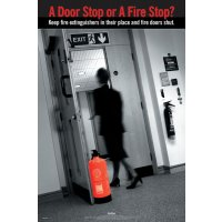 Full-Colour 'A Door Stop Or A Fire Stop?' RoSPA Poster