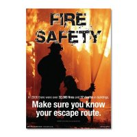 Informative fire safety awareness poster