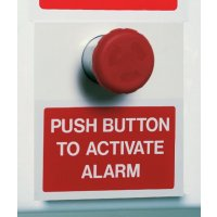 Self-Contained Wire-Free Break Glass or Push Button Fire Alarm Unit