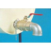 Lockable shut-off valve barrel tap steel drum