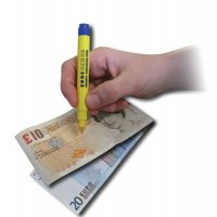 Counterfeit banknote detector pens