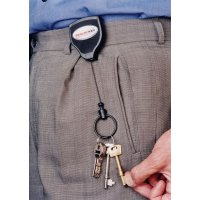 Retracting Key and Badge Holder with Kevlar Cord