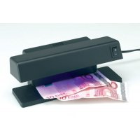 Counterfeit detector lamp for screening money and cards