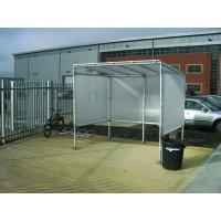 Stylish smoking shelter with full protection