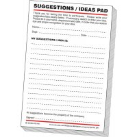Suggestion pads for descriptive employee feedback