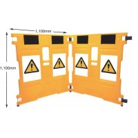 SuperGard Folding Polyethylene Plastic Barrier System