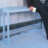 Stainless Steel Perch Bench for Smoking Shelter