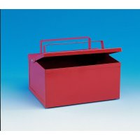 Fire-proof metal ash collection bin