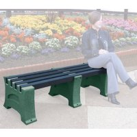 Stylish Stone Effect Recycled Plastic Bench