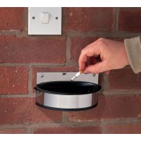 Contemporary Stainless Steel Wall Mounted Ashtray