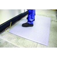 Durable static dissipative matting